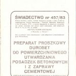 Durobet świadectwo-ITB 1983