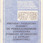 Durobet instrukcja 1983