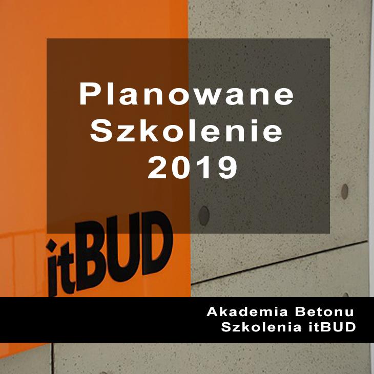 Planowane Szkolenia 2019 Itbud
