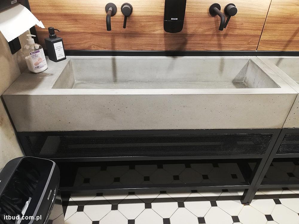 Elektrowniaq Powiśle umywalki betonowe