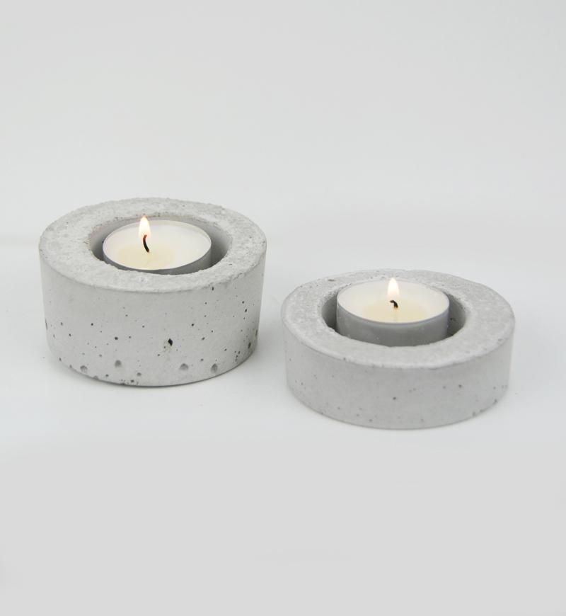 Ozdobeton świecznik z betonu architektonicznego