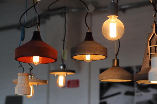 Lampy z betonu Faktoria Betonu Itbud